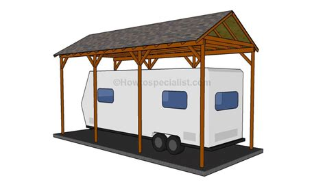 Motorhome Carport Plans by How To Build A Wooden Carport Home Exteriors Wooden