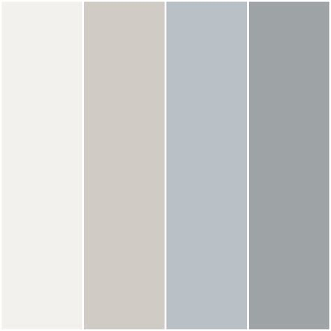 color palette i made for my house with behr paint in nano white burnished clay distant