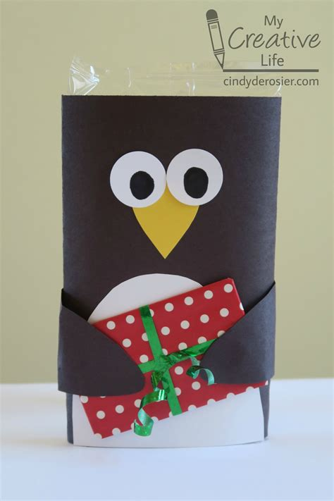 microwave popcorn penguin gift card holder fun family crafts