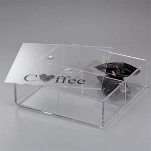 Portacialde in plexiglass con coperchio e 4 divisori ONLY