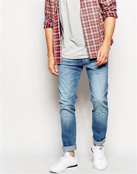 light wash skinny jeans mens wrangler jeans bryson skinny fit street jazz stretch light