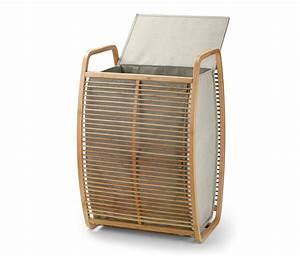 Wäschekorb Mit Deckel : bambus w schekorb mit deckel von tchibo ansehen ~ Frokenaadalensverden.com Haus und Dekorationen