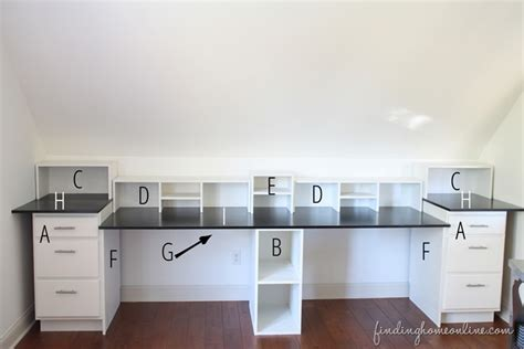 desk with cabinets built in easy diy built in desk tutorial finding home farms