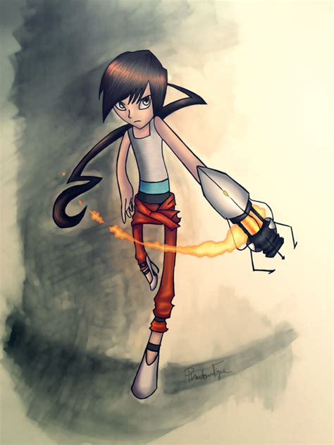 Chell Portal 2 By Phantom Fyre On Deviantart