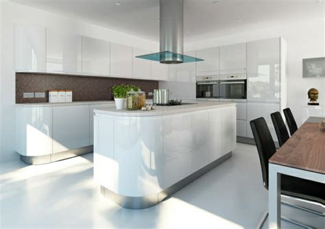white gloss kitchen designs la cuisine blanche laqu 233 e en 35 photos qui vont vous 1314