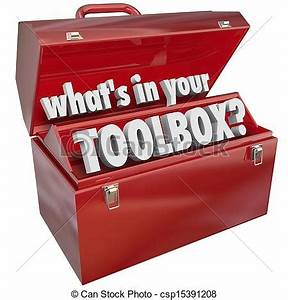 Stock Photography of What's In Your Toolbox Red Metal Tool ...