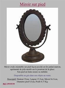 Petit Miroir Sur Pied : style ancien petit miroir psych miroir sur pied orientable en fonte marron 22cm ebay ~ Teatrodelosmanantiales.com Idées de Décoration