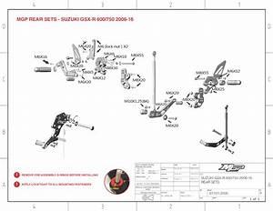 Gsx-r 600  750 2006-20 Mgp Rearsets