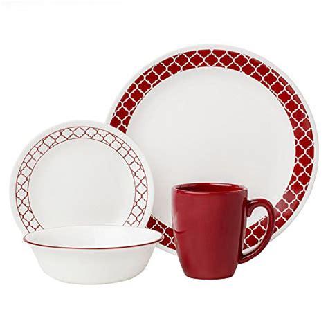 dinnerware lightweight trellis corelle livingware piece crimson service