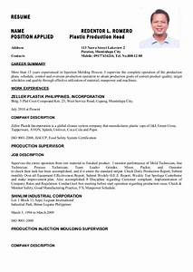 plastic injection machine operator resume researchonweb With plastic injection molding sample resume