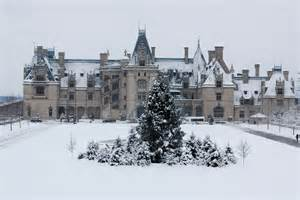 Snow at Biltmore House Asheville NC