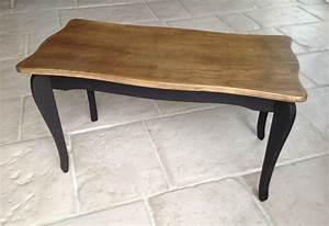 Table Basse Bois Et Noir : table basse en bois double patine noir bois naturel l 39 atelier d 39 ema ~ Teatrodelosmanantiales.com Idées de Décoration