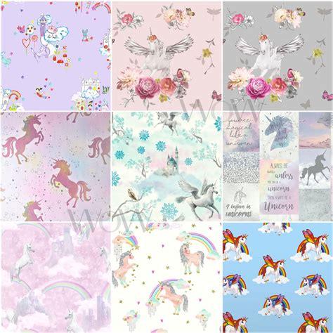 tapeten für mädchenzimmer einh 246 rner pferde tapete kinder m 228 dchen schlafzimmer lila rosa wei 223 glitter ebay