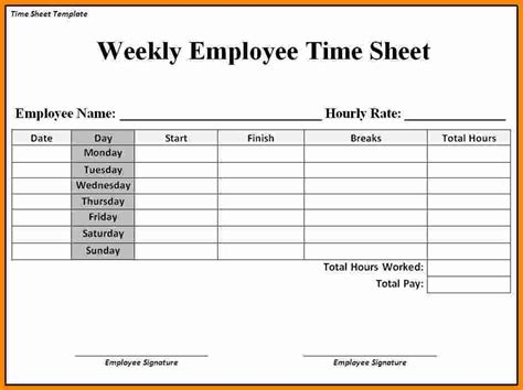 Time Sheet Template 12 Free Printable Weekly Timesheet Template Ledger Paper