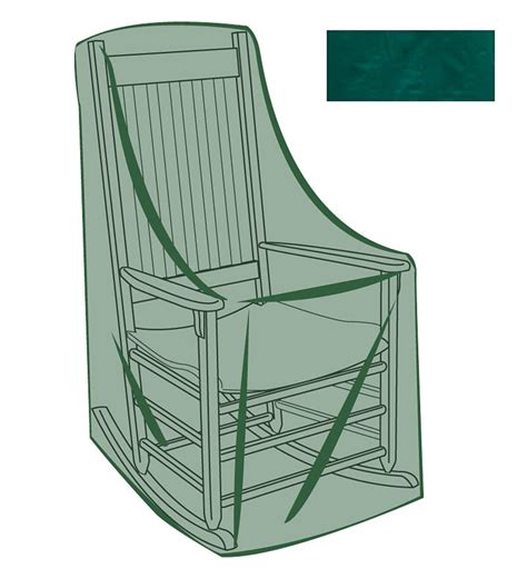 rocking chair outdoor furniture cover green plowhearth