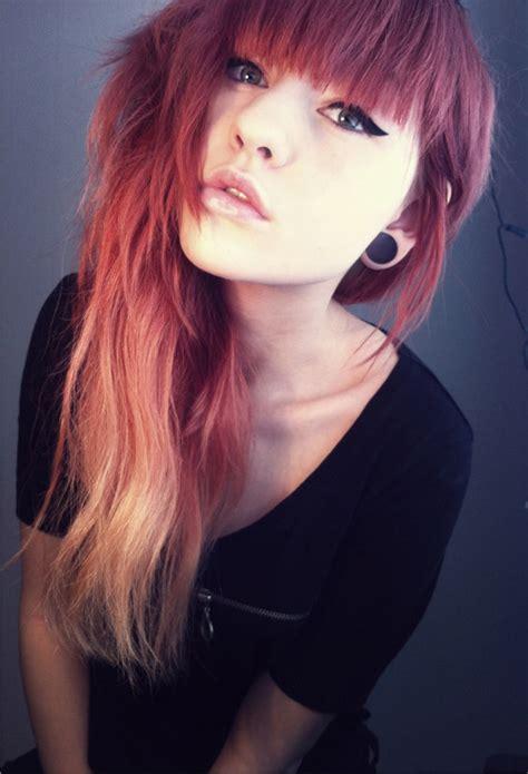 Long Dip Dyed Hair Tumblr