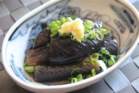 nasu nibitashi braised eggplant recipe japanese