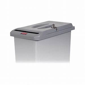 rubbermaid slim jim confidential document container lid With rubbermaid slim jim confidential document container