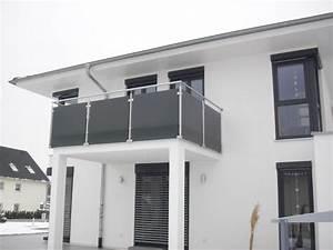 Balkongeländer Pulverbeschichtet Anthrazit : balkon vsg parsol grau mit matter folie jpg 730 548 pixel ~ Michelbontemps.com Haus und Dekorationen