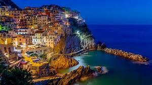 Village, Of, Manarola, In, National, Park, Of, Cinque, Terre, Italy, Desktop, Wallpaper, Hd, For, Mobile