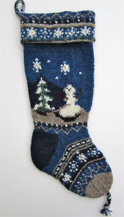 hand knit christmas stocking knitting knitted