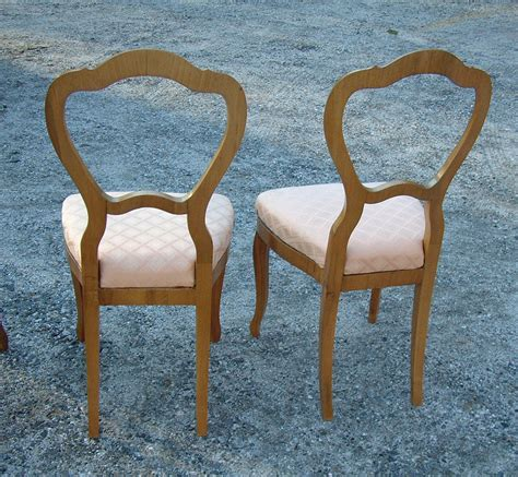 six antique biedermeier dining chairs item 2172 for