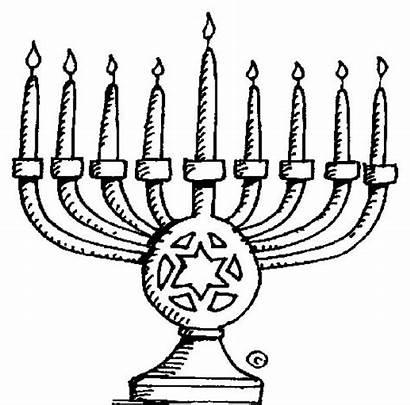 Menorah Chanukah Clipart Hanukkah Coloring Clip Pages