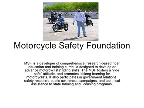 Motorcycle Safety Foundation Powerpoint