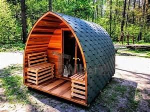 Sauna Für Garten : fasssauna aussensauna gartensauna saunafass mit vorraum und holzofen harvia sauna f r ~ Markanthonyermac.com Haus und Dekorationen