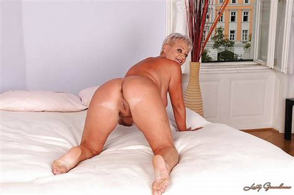 #Short #Haired #Granny #Taking #Off #Her #Lingerie #And #Exposing #Her #Shaved #Vag