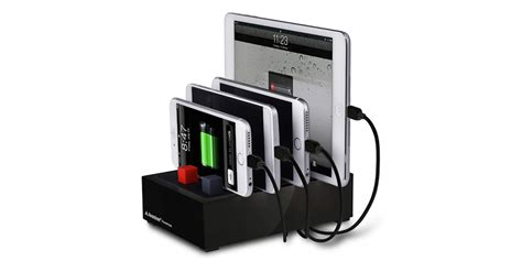 desk l with charging station declutter your desk with this 4 device charging station