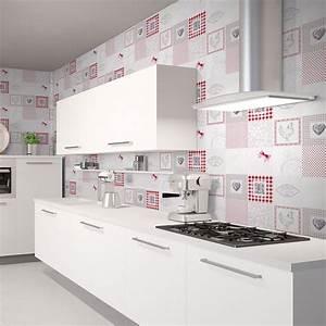 Tapisserie Pour Cuisine : papier peint intiss d 39 antan rouge ~ Premium-room.com Idées de Décoration