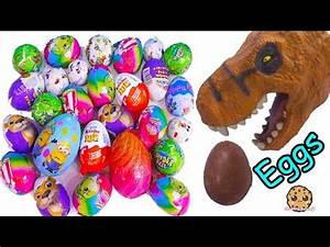 Dinosaur Eating Chocolate Eggs with Surprise Toys, Kinder ...