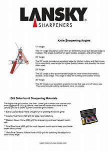 Lansky Sharpeners    Sharpening Angles  U0026 Grit Selection