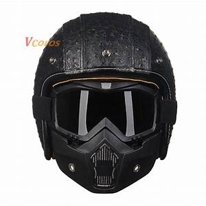 Popular Leather Scooter Helmet-Buy Cheap Leather Scooter ...