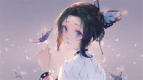 shinobu kocho  kimetsu  yaiba anime wallpaper