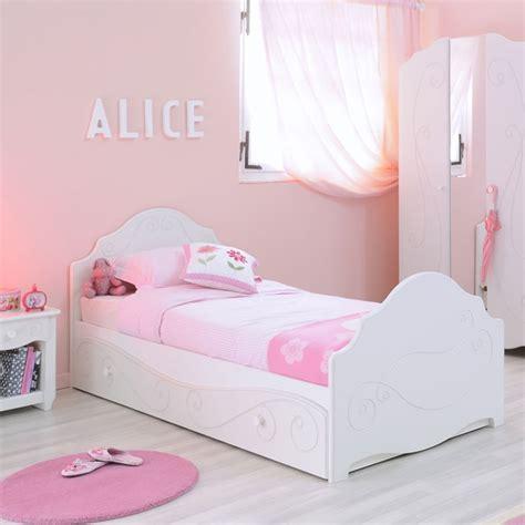 mobilier chambre fille lit enfant quot betty quot 90x200cm blanc