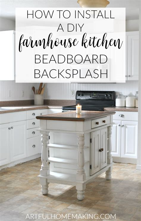 how to apply backsplash in kitchen how to install a beadboard kitchen backsplash artful homemaking