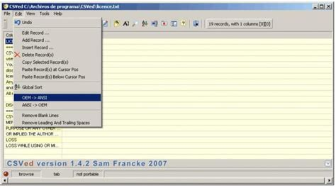 Download Csved V2.5.1 (freeware)