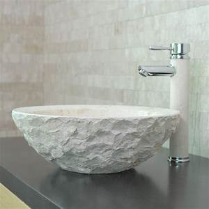 Lavabo En Pierre Naturelle : vasque en pierre ronde wasa calcaire beige indoor by capri ~ Premium-room.com Idées de Décoration