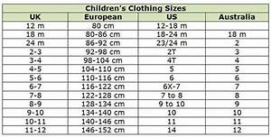 Baby Shoe Size Chart Us European Shop Abroad With These Clothing Size Conversion Charts