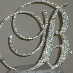 bling monogram letter cake topper customized With bling letter cake toppers
