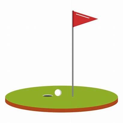 Golf Ball Flag Course Illustration Clip Transparent
