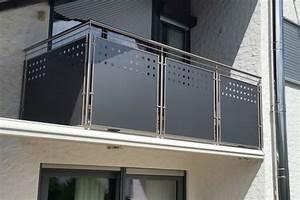 Platten Für Balkonverkleidung : balkongel nder edelstahl lochblech ~ Frokenaadalensverden.com Haus und Dekorationen