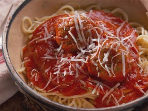 spaghetti  lamb meatballs recipe nancy fuller food network