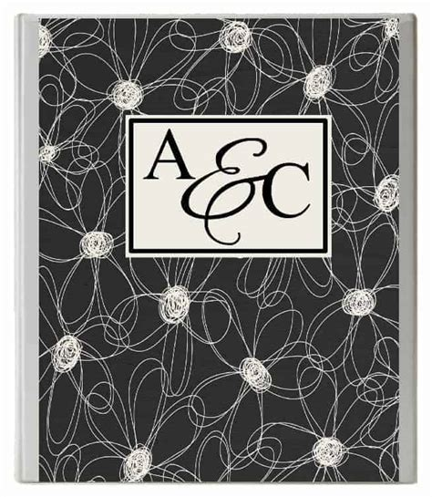monogram binder cover customize  instant
