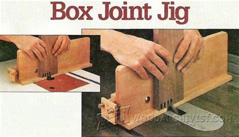 box joint jig plans woodarchivist