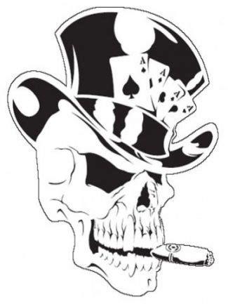 skull  top hat   skull stencil tattoo designs
