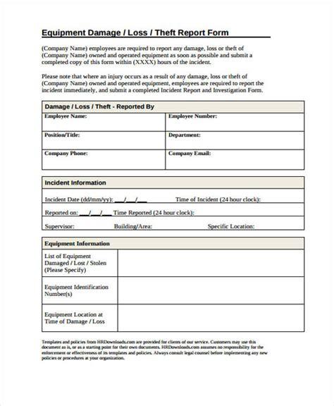 damage report templates  sample  format