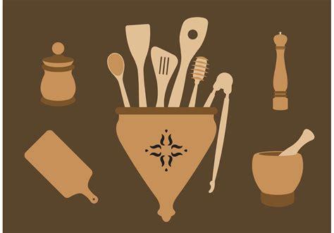 classic wooden spoons   vectors clipart